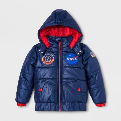Boys' NASA Puffer Jacket - Blue 7 - image 1 of 3