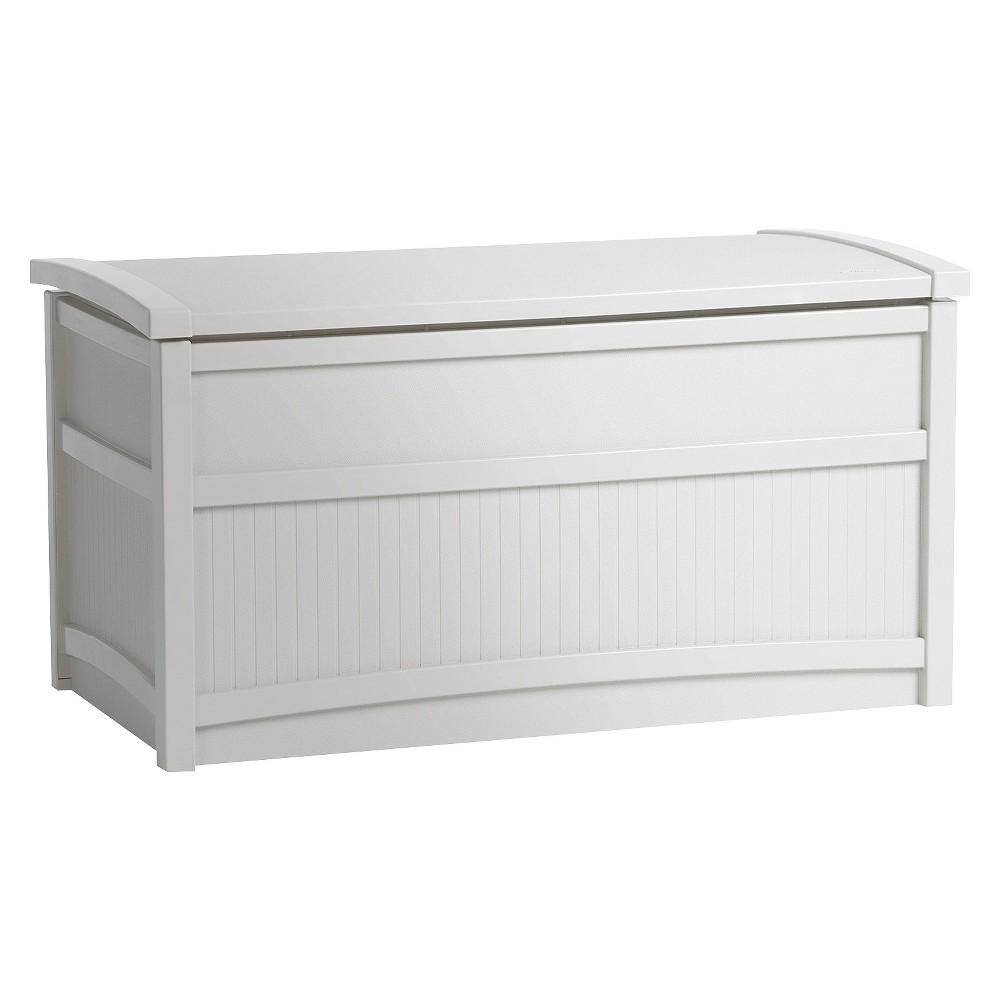 Resin Deck Box White 50 Gallon - White - Suncast