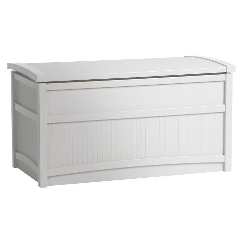 Resin Deck Box White 50 Gallon - White - Suncast - image 1 of 3