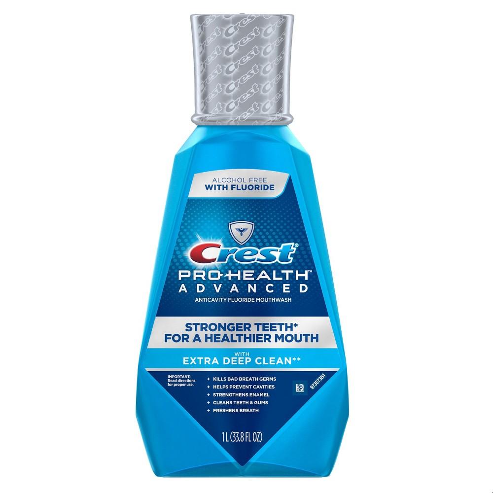 Crest Pro-Health Advanced, Extra Deep Clean Mouthwash - Fresh Mint 1 L