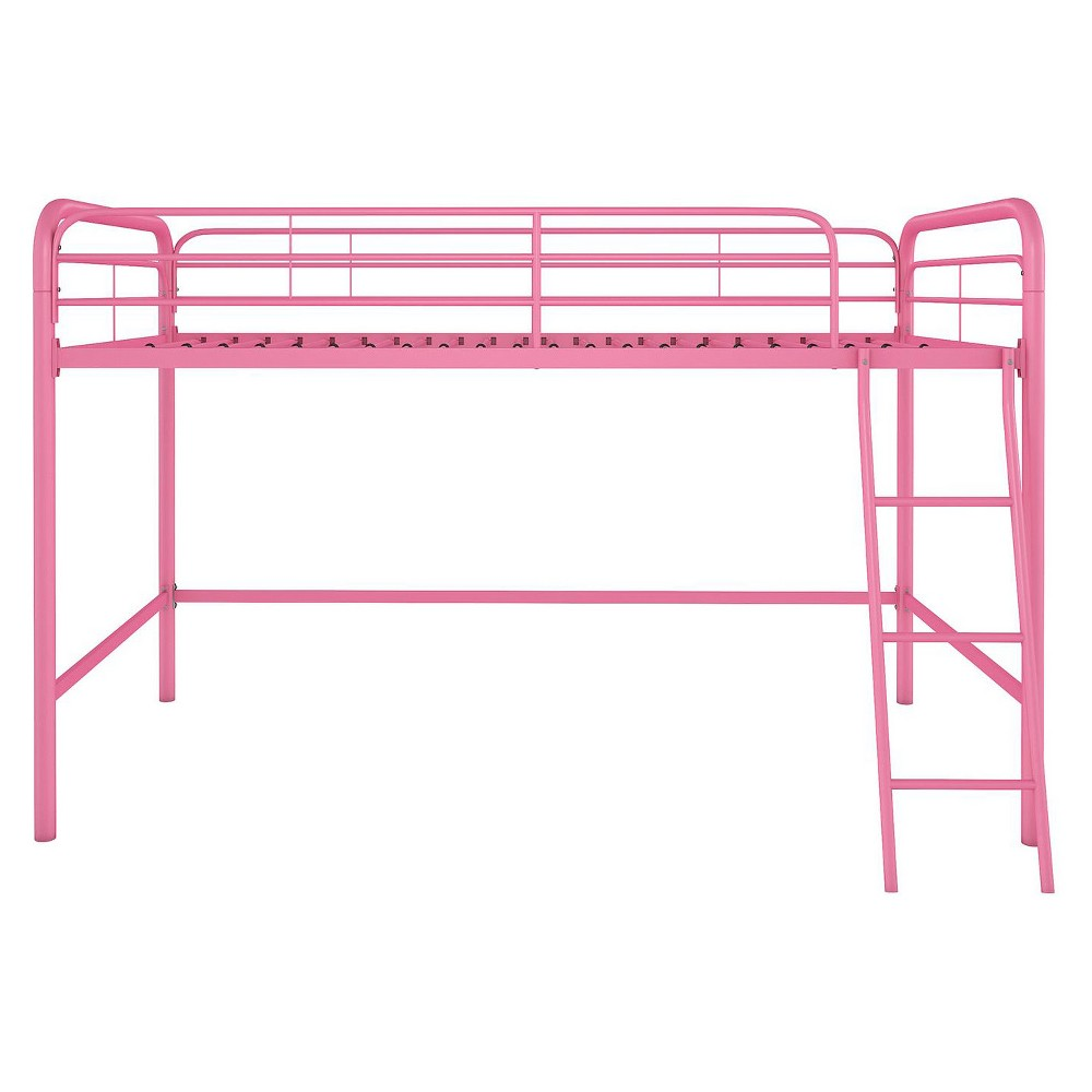 Image of Adeline Junior Metal Loft Bed Pink - Room & Joy