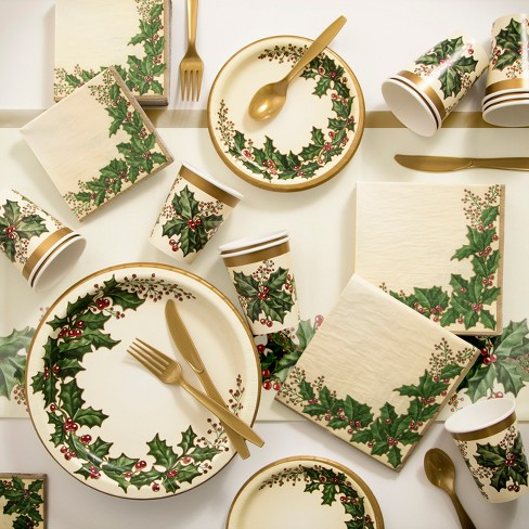 Creative Converting Winter Holly Christmas Buffet Kit - image 1 of 1