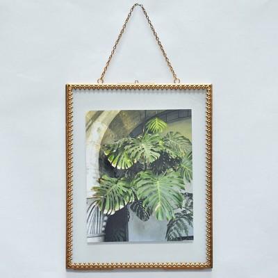 8  x 10  Pressed Glass Frame Brass - Opalhouse™