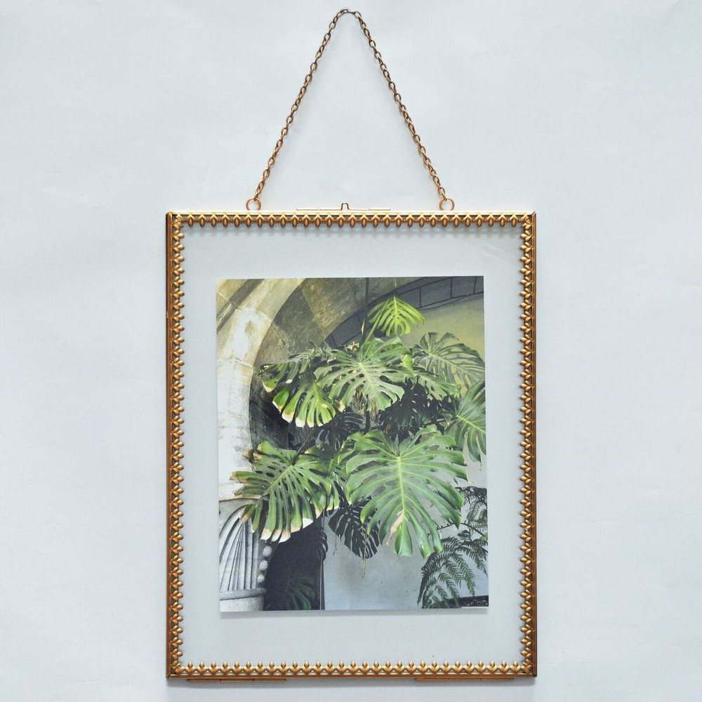 Image of Pressed Glass Frame Brass - Opalhouse