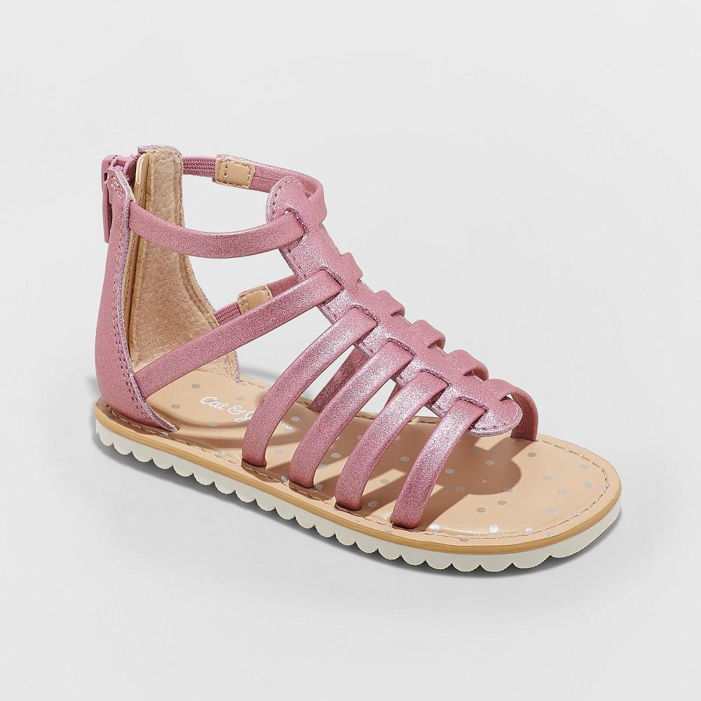 Toddler Girls' Fionna Gladiator Sandals - Cat & Jack Pink 6