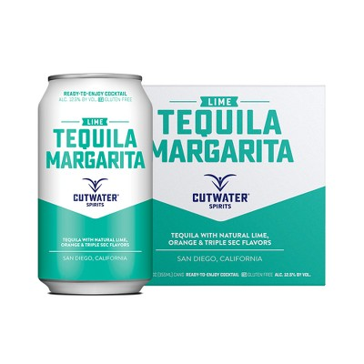 Cutwater Lime Tequila Margarita Cocktail - 4pk/12 fl oz Cans