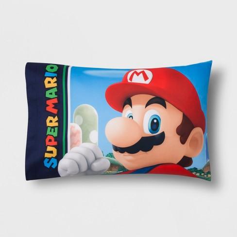 Nintendo Mario Twin Kingdom Hero Pillowcase - image 1 of 3