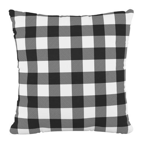 Classic Gingham Outdoor Throw Pillow Black Skyline Furniture Target