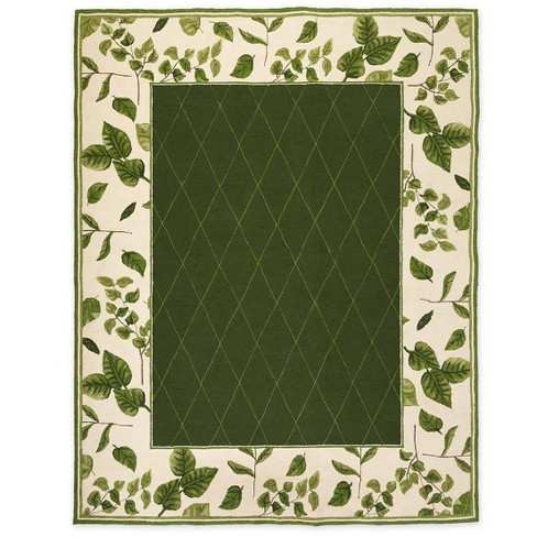 "Indoor / Outdoor Leaves Rug, 5' X 7'5"" - Plow & Hearth - image 1 of 2"