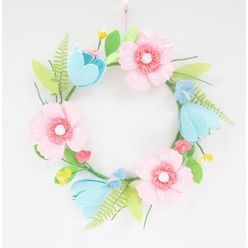 "16"" Easter Felt Floral Wreath - Spritz™"