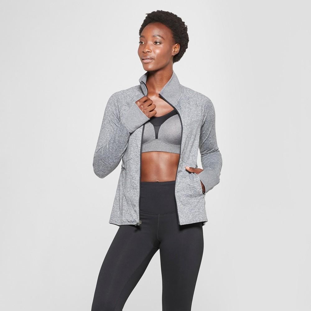 Women's Knit Full Zip Track Jacket - C9 Champion Black Heather XL