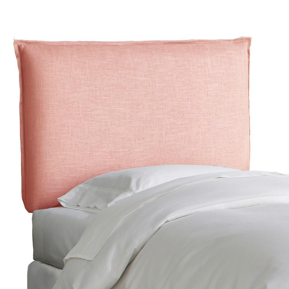 Kid's French Seam Linen Upholstered Headboard Twin Linen Petal - Pillowfort