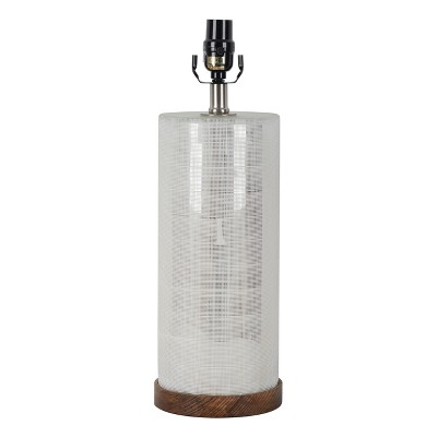 Large Light Mercury Cut Glass Wood Table Lamp Base Wood/Silver - Threshold™