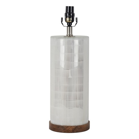 Light Mercury Cut Glass with Wood Base - Threshold™ - image 1 of 4