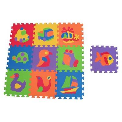 Edushape Edu-Tiles Foam Puzzle Set - 10 Piece