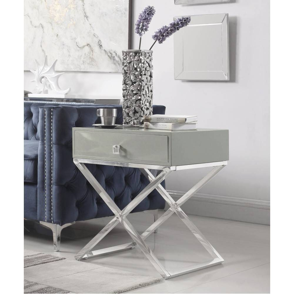 Rochester Side Table Gray - Chic Home Design was $359.99 now $215.99 (40.0% off)