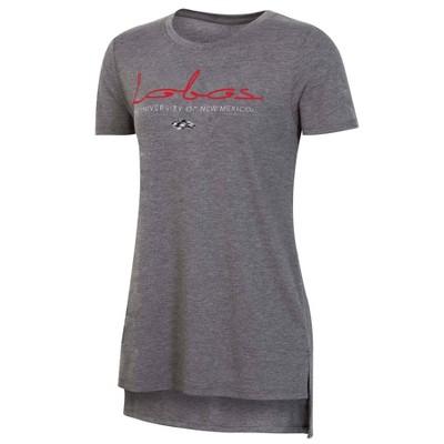 NCAA New Mexico Lobos Women's Short Sleeve Gray Drape T-Shirt