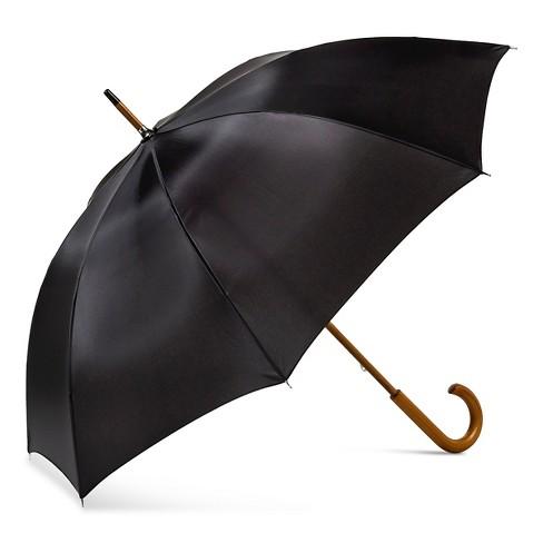 ShedRain Wood Stick Umbrella  - Black - image 1 of 2