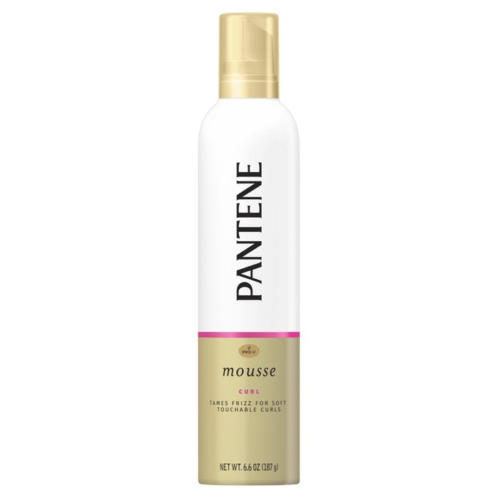 Pantene Pro-V Curl Mousse To Tame Frizz For Soft And Touchable Curls - 6.6oz : Target