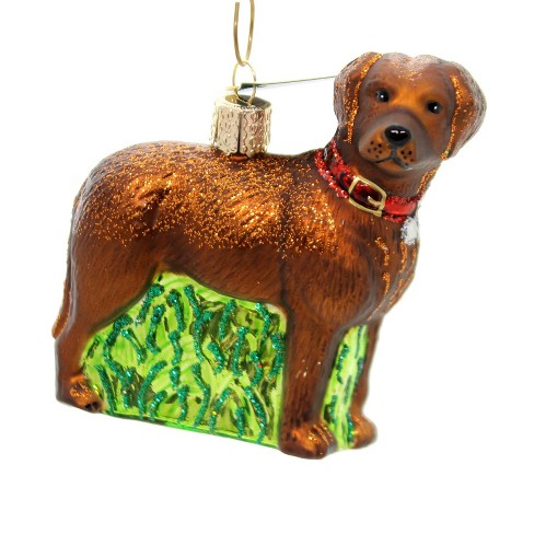 "Old World Christmas 3.5"" Standing Chocolate Lab Loyal Faithful  -  Tree Ornaments - image 1 of 2"
