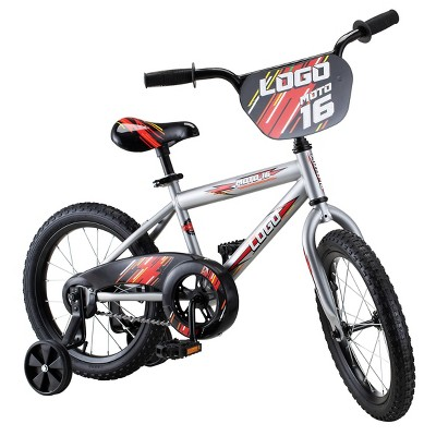 "Pacific 16"" Logo Kids' Bike - Red/Gray"