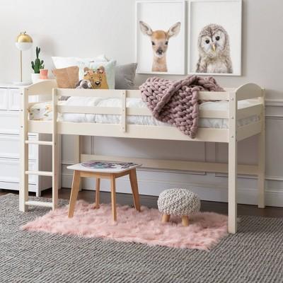 Twin Addi Solid Wood Low Loft Bed - Saracina Home