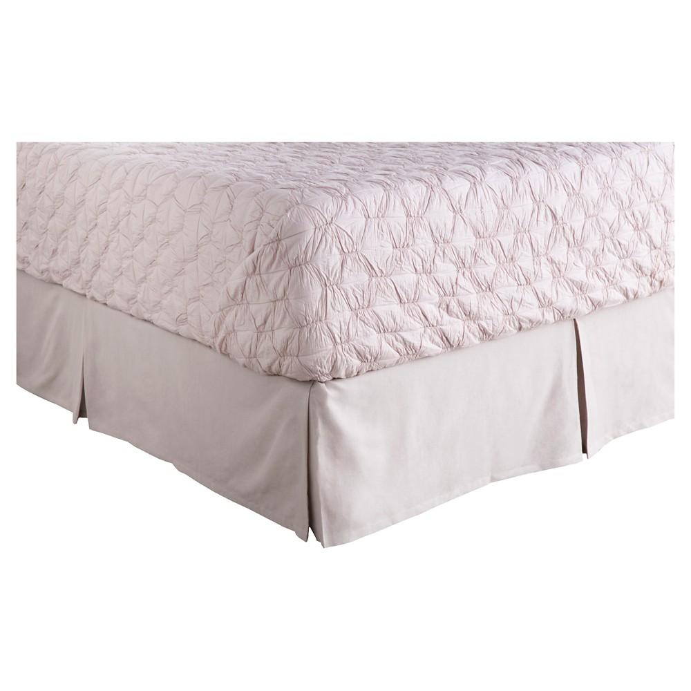Aldan Luxury Bedding Skirt (Queen) Plum - Surya, Light Plum