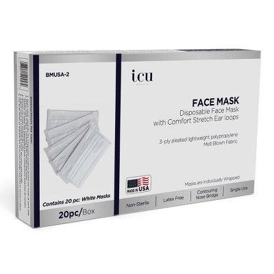 ICU Health Non-Medical Disposable Face Mask - 20ct