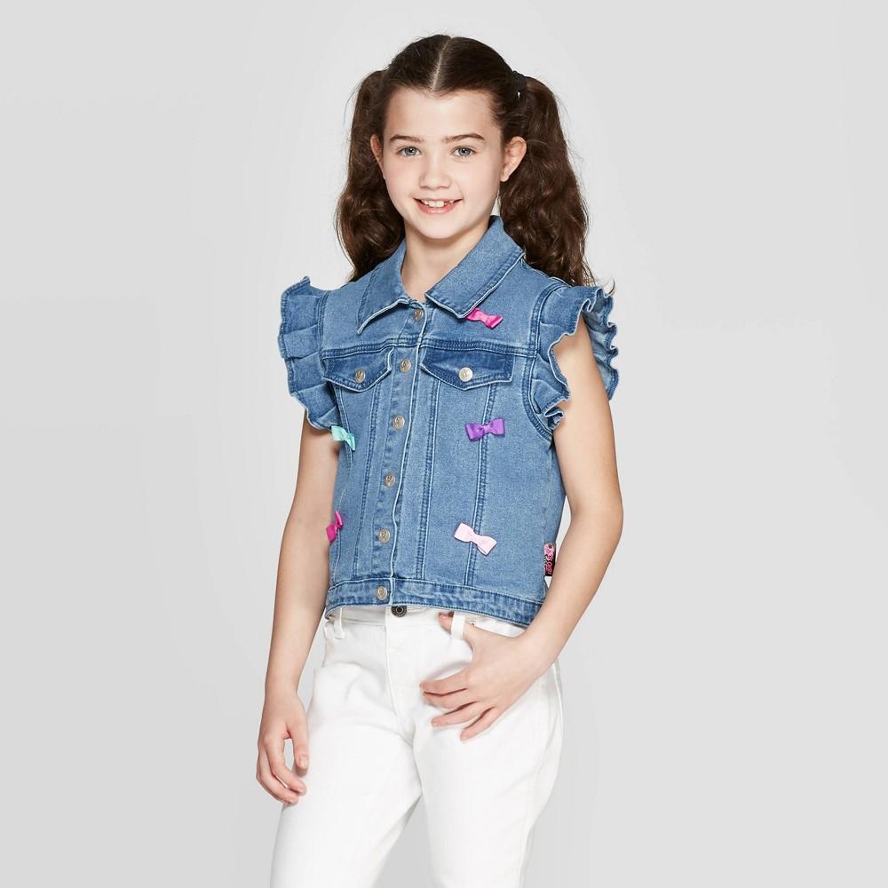 39e0bca057d Girls JoJos Closet Vest Denim Blue S
