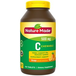 Nature Made Chewable Vitamin C 500 mg Tablets - 150ct