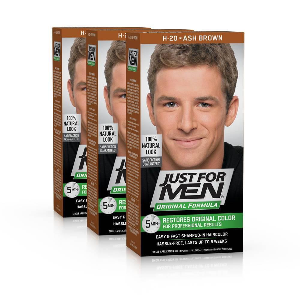 Image of Just For Men Ash Brown Permanent Hair Color - 3pk, Grey Brown