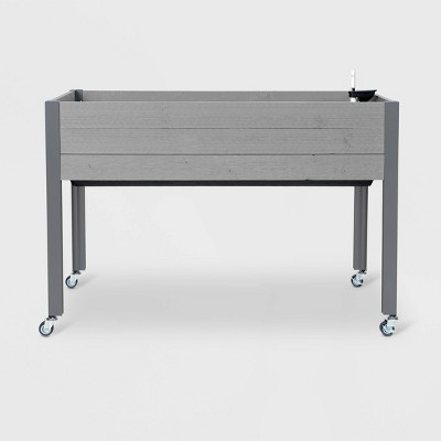 21  x 47  Self-Watering Rectangular Wooden Planter Gray - CedarCraft