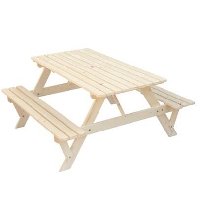 GardenisedA-Frame Outdoor Patio Deck Garden Picnic Table