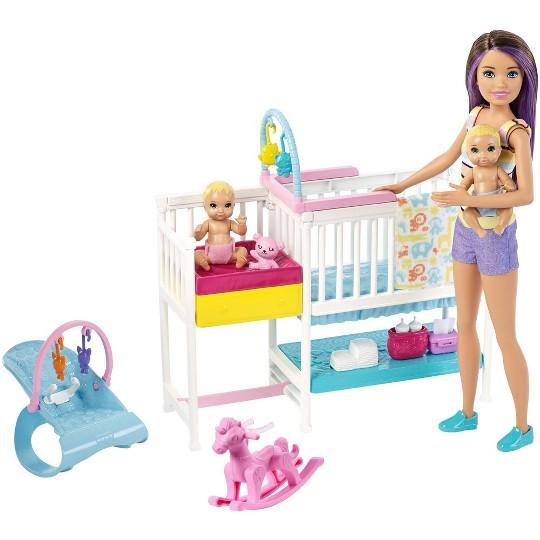 Barbie Skipper Babysitters Inc Nap 'n' Nurture Nursery Dolls and Playset image number null