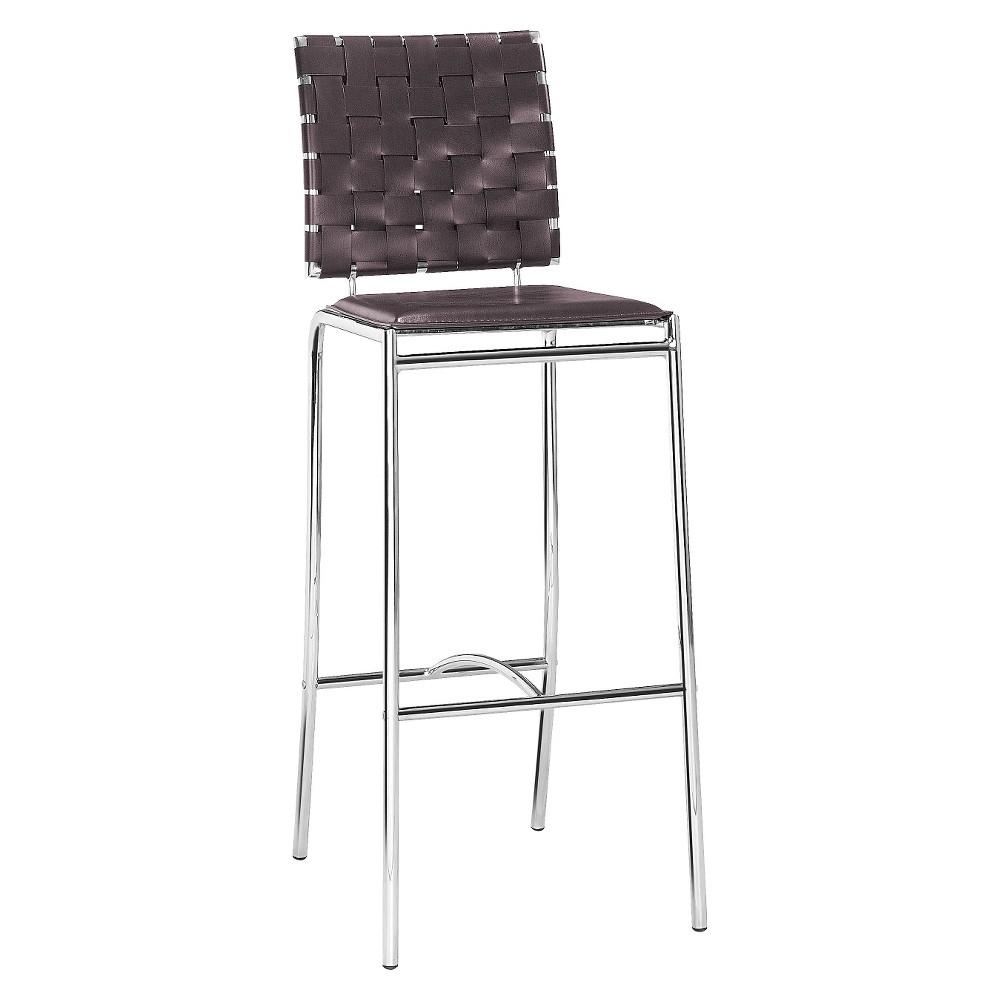 Modern 29 Bar Chair - Espresso (Set of 2) - ZM Home, Brown