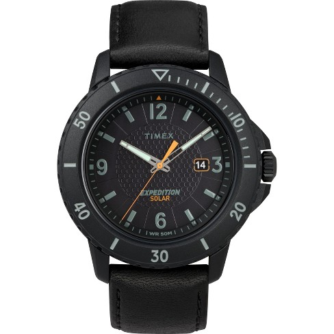 Men's Timex Expedition Solar Watch with Leather Strap - Black TW4B14700JT - image 1 of 3