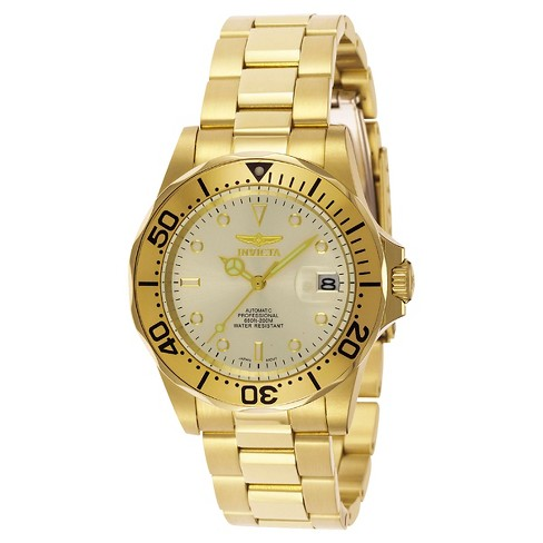 Men's Invicta 9618 Pro Diver Automatic Champagne Dial Link Watch - Gold - image 1 of 1