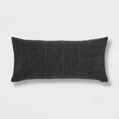 Woven Washed Windowpane Throw Pillow - Threshold™