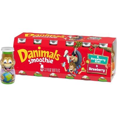 Dannon Danimals Strawberry Explosion and Strikin' Strawberry Kiwi Kids' Yogurt Smoothie Value Pack - 12pk/3.1oz