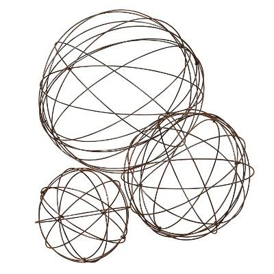 Gerson International Assorted Sized Wire Garden Spheres, Set of 3