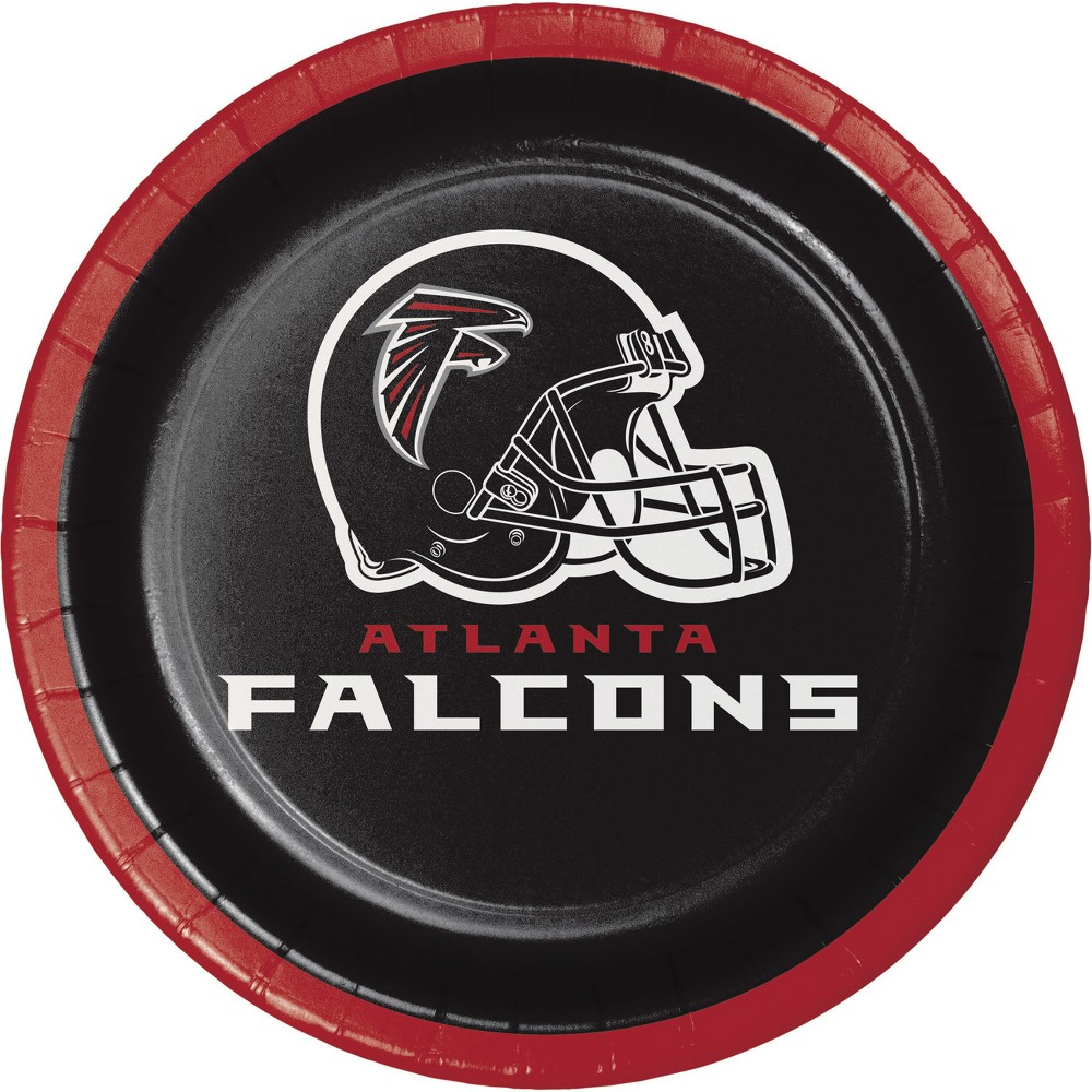 Image of 24ct Atlanta Falcons Dessert Plates Red