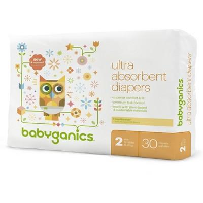 Babyganics Diapers Jumbo Bag - Size 2 (30 ct)