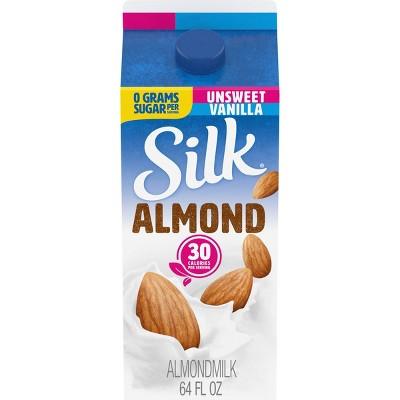Silk Almond Unsweetened Vanilla Almond Milk - 0.5gal
