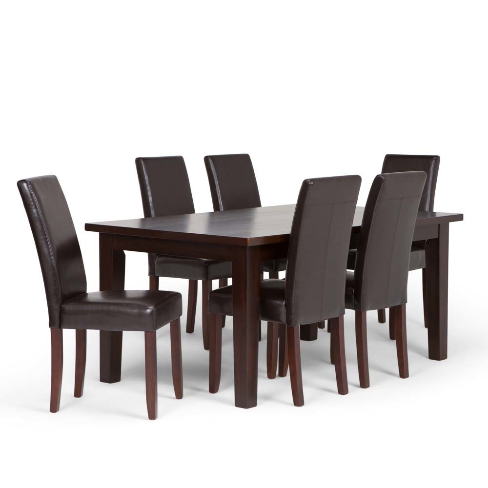 7pc Normandy Solid Hardwood Dining Set Wyndenhall