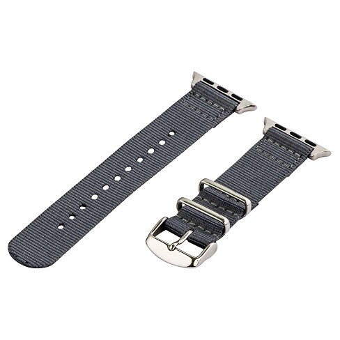 Clockwork Synergy Classic Nato 2 Apple Watch Band 38mm with Steel Adapter - Gray - image 1 of 1