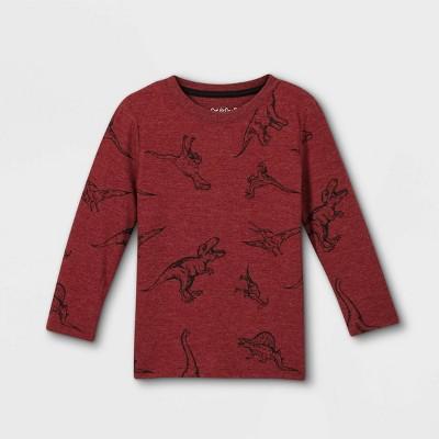 Toddler Boys' Jersey Knit Crew Neck Long Sleeve T-Shirt - Cat & Jack™