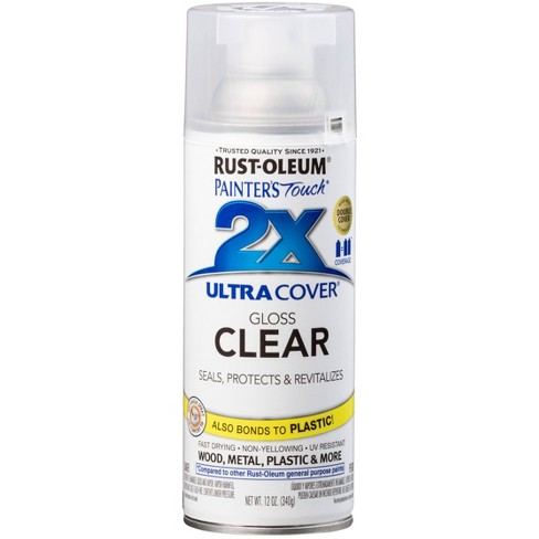 Rust-Oleum 12oz 2X Painter's Touch Ultra Cover Gloss Spray Paint Clear - image 1 of 1