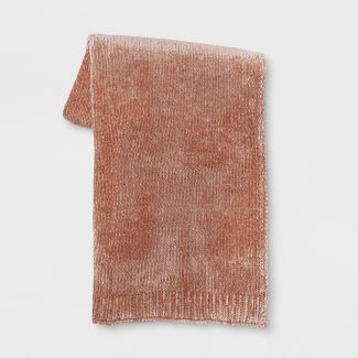 Shine Chenille Throw Blanket Blush  - Project 62™