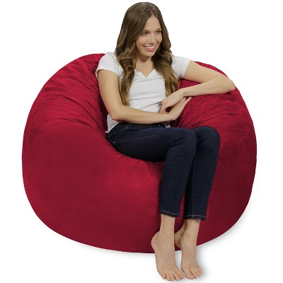 4' Bean Bag Chair with Memory Foam Filling and Washable Cover - Relax Sacks
