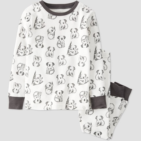 Toddler 2pc Koala Pajama Set - little planet by carter's Cream - image 1 of 3